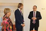 Ministr zdravotnictví a poslanec Adam Vojtěch navštívil píseckou nemocnici.