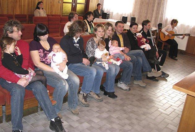 Vítání občánků v Albrechticích nad Vltavou - 1. března 2008.