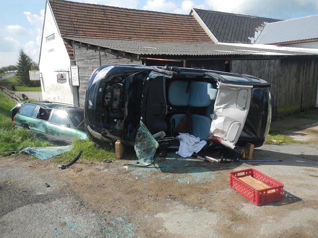 Vážná nehoda v Křižanově.