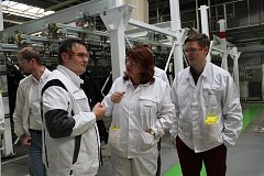 Faurecii navštívila viceprezidentka hospodářské komory.