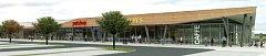 Vizualizace obchodního centra.
