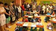 Zahájení školy v první třídě ZŠ Záhoří.