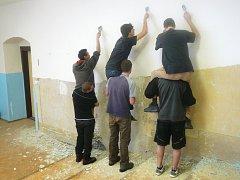 Studenti obchodní akademie v Písku.
