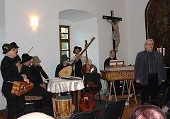 Koncert souboru Ritornello v Milevsku v Latinské škole.