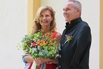 Svatba v kapli v areálu Nemocnice Písek ve čtvrtek 12. srpna 2021.