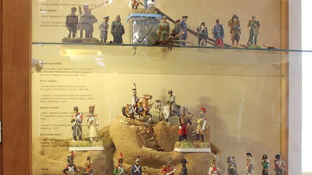 Výstava Malí vojáci velkých válek v Milevském muzeu.