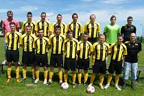 Fotbalisté Sokola Záhoří B (na snímku) zvítězili v nedělním utkání okresní III. třídy v Mirovicích nad místním béčkem 4:0.