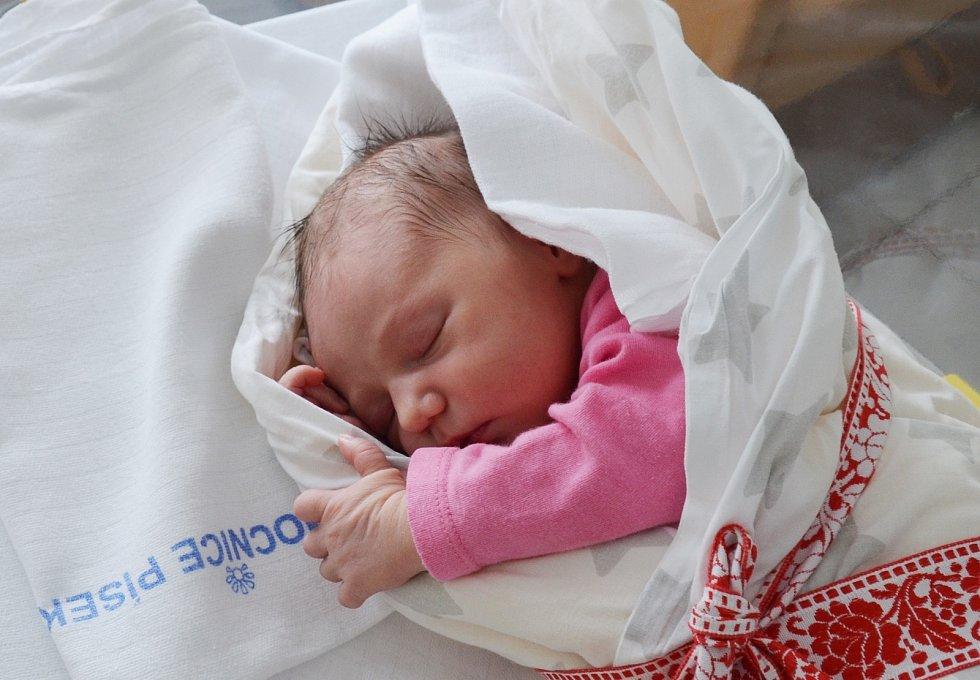 Natálie Pavlíková z Volar. Prvorozená dcera Adély Jurištové a Marka Pavlíka se narodila 10. 2. 2021 v 19.09 hodin. Vážila 3500 g a měřila 50 cm.