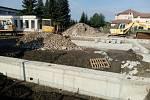Stavba nové školky v Mirovicích.