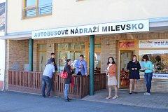 Otevření informační kanceláře na autobusovém nádraží v Milevsku.