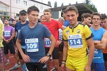 Patrik Bouška na závodech v Nové Včelnici.