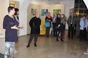 Výstava Kamarádky v Malé galerii písecké Sladovny.