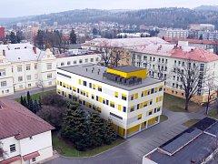 Vizualizace nového pavilonu písecké nemocnice.