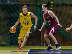 Mladí basketbalisté Písku (U19) v zápase s BA Nymburk.