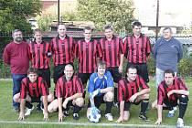 Fotbalisté Blaníku Milenovice (na snímku) zvítězili v zápase okresní III. třídy nad béčkem Albrechtic nad Vltavou 2:0 a připsali si do tabulky tři body.