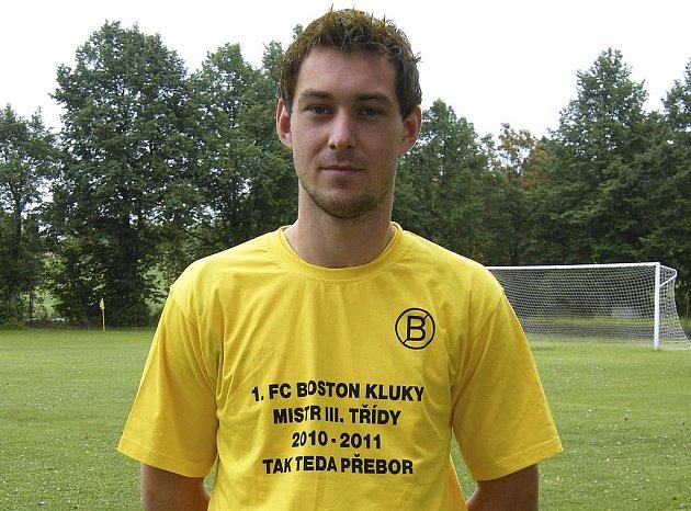 Miroslav Nedvěd z týmu 1. FC Boston Kluky se stal nejlepším střelcem fotbalové okresní III. třídy, když zaznamenal dvacet šest gólů.