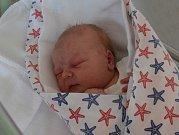 Jáchym Obermayer zPísku. Syn Dany Šavrdové a Jana Obermayera se narodil 30. 3. 2019 v8.41 hodin. Při narození vážil 3950 g a měřil 51 cm. Foto: Jana Krupauerová