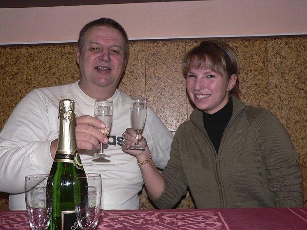 Trenér Silvestr Zezula se závodnicí Klárou Bauerovou