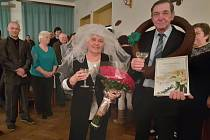 Manželé Haškovi oslavili zlatou svatbu.
