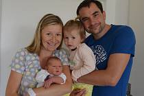 Lukáš Sádlo z Písku. Syn Renaty a Petra Sádlových se narodil 26. 8. 2019 v 18.47 hodin. Při narození vážil 3900 g a měřil 52 cm. Má sestřičku Laurinku (2).
