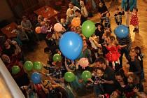 Dětský karneval v milevském domě kultury.