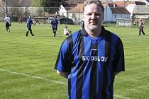Petr Zajíček (na snímku) svým gólem zajistil výhru svému mužstvu v utkání okresní fotbalové III. třídy, ve kterém Sokol Čížová B doma podlehl týmu SK Oslov 1:2.
