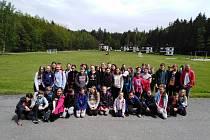 Žáci na jazykovém kurzu.