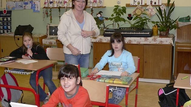 Dětem se v albrechtické škole líbí.