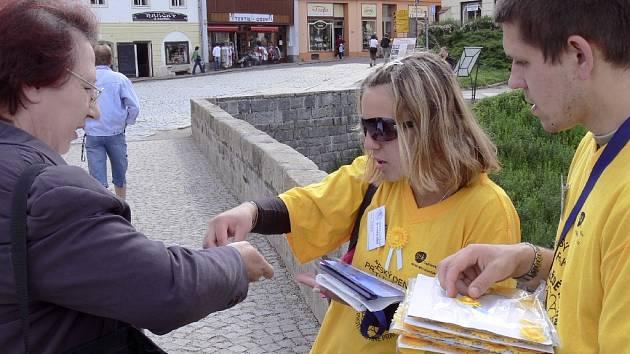 Olga Machníková ze Střední zdravotnické školy v Písku a Jiří Zeman ze Střední průmyslové školy v Písku