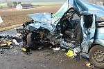 Tragická nehoda na silnici mezi Pískem a Čížovou.