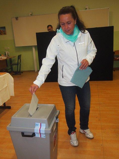 Krajské volby vPísku. Na snímku je Lenka Titlová.