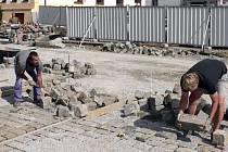 Z rekonstrukce Bakalářů v Písku.