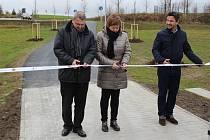 Otevření nové cyklostezky do průmyslové zóny v Písku.