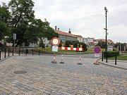 Rekonstrukce Svatotrojické ulice v Písku.