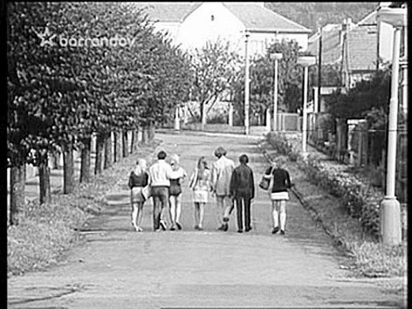 Film Láska natáčel Karel Kachyňa vPísku vroce 1973.Roháčova ulice.