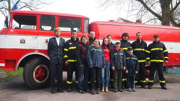 Dobrovolní hasiči z Heřmaně.