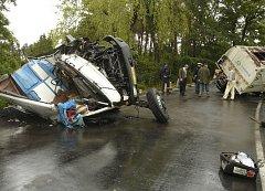 Snímek z vážné dopravní nehody