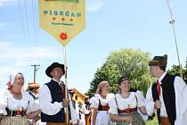 Část sobotního programu XVII. jihočeského folklorního festivalu Kovářov 2012.