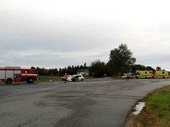 Dopravní nehoda u Kostelce nad Vltavou.
