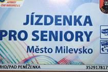 DOPRAVNÍ KARTA je k vyzvednutí na odboru sociálních věcí Městského úřadu Milevsko.