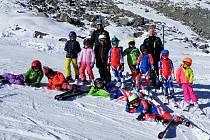 Lyžaři Skiklubu Písek.