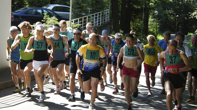 V sobotu 14. července v 11 hodin odstartuje před píseckým Interhotelem America 6. ročník Pivoňova běhu na trase Písek - Velký Mehelník (7,4 km). Náš snímek je z loňského ročníku tohoto závodu.