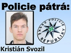 Pětadvacetiletý Kristián Svozil opustil bydliště v obci Chřešťovice v neděli 8. července večer. Policie po něm pátrá.