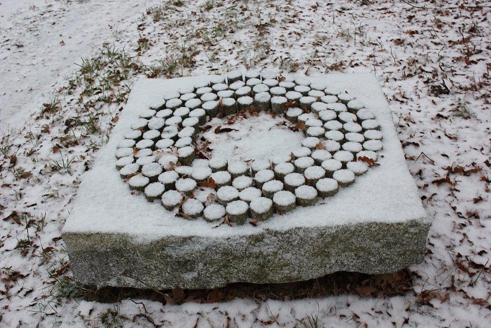 První sníh na Písecku.