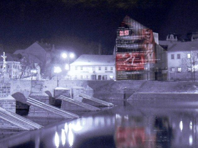 Vítězná studentská projektová studie zástavby prostoru u Kamenného mostu.