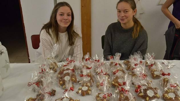 Žáci protivínské školy vyráběli vánoční dekorace, které pak prodávali.