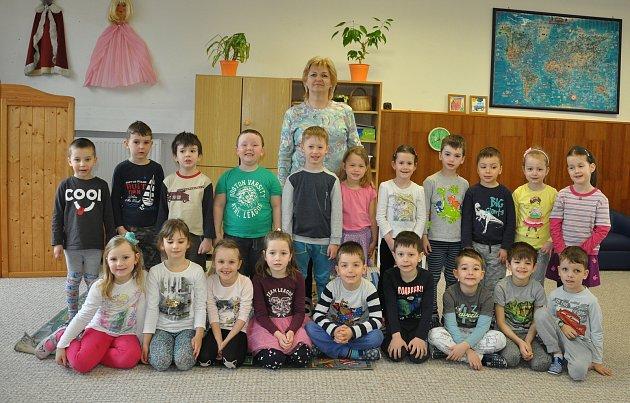 Děti z8. Mateřské školy vPísku - Zelená třída