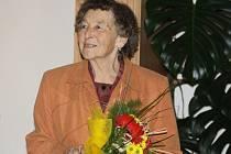 Ludmila Veverková s oceněním.