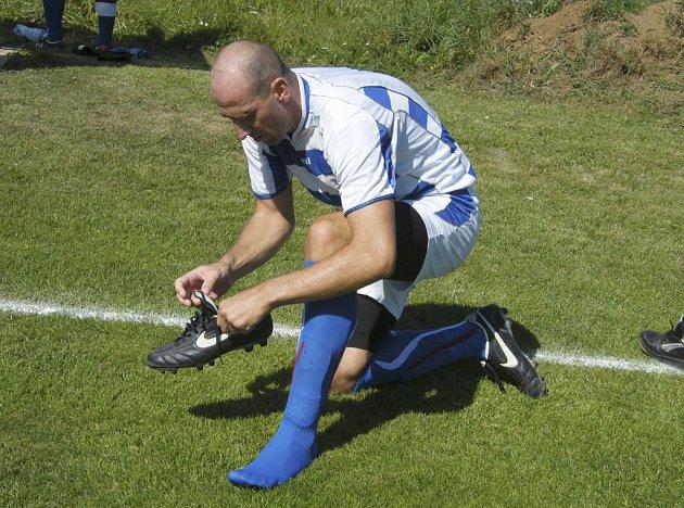 Jan Koller (na snímku) z týmu Dino Star se stal nejlepším střelcem 37. ročníku fotbalového Memoriálu Ladislava Panýrka ve Smetanově Lhotě.