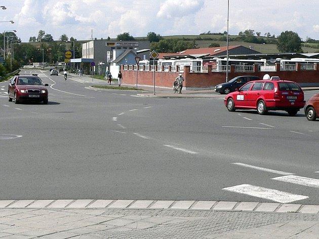 Křižovatka u autobusového nádraží